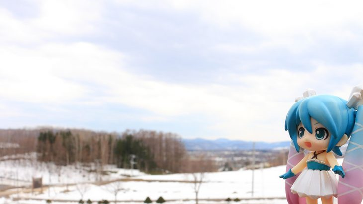 ミクさんは北海道のオホーツク地方にやってきました