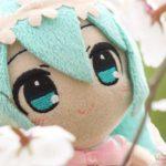 ミクさんは中島公園で桜を見ました