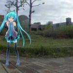 ミクさんは釧路の幸町緑地に来ました
