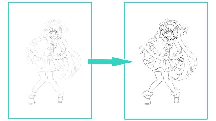 Clip Studio Paint(クリスタ)で線画を2値化する方法