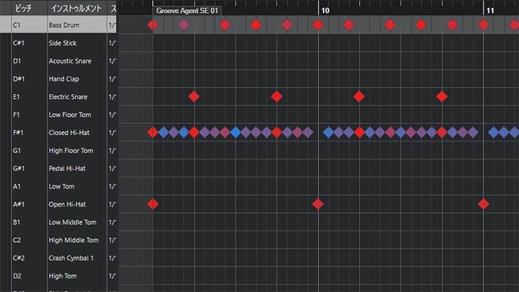 【Cubase】Groove Agentのパターン機能でドラムトラックを素早く作る方法