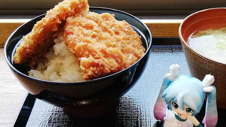 みくりすたる☆さんは新潟名物のタレかつ丼を食べました