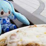 雪ミクちゃんはホワイトイタリアンを食べました