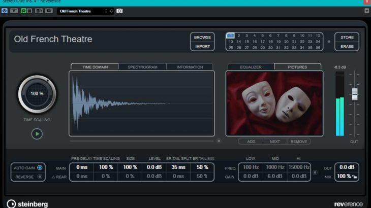 【サンプル音源あり】Cubase Proに付属する4種類のリバーブの特徴と使い分けの研究