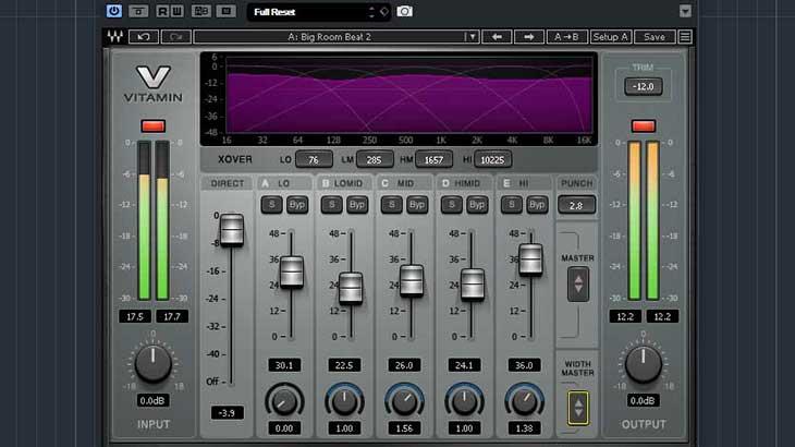 Waves『Vitamin Sonic Enhancer』は簡単に倍音を付加してミックスを華やかにするプラグイン